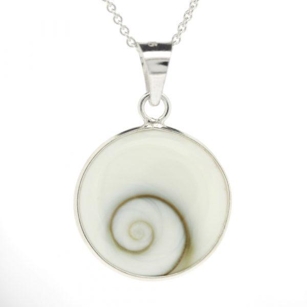 Shiva's eye large round pendant