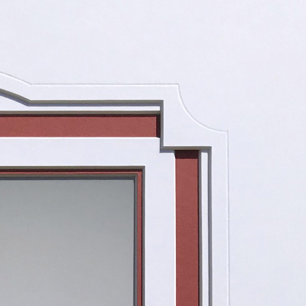 Mount design detail, debossed corner & channel mount