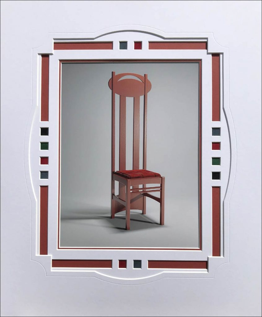 Mount design for image of iconic Charles Rennie Mackintosh chair