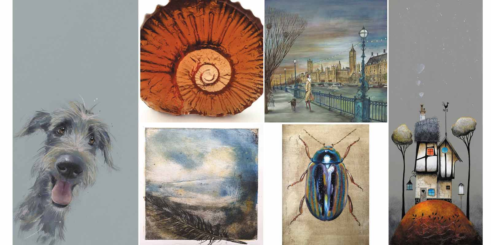 a selection of pieces that will be available in the Christmas exhibition