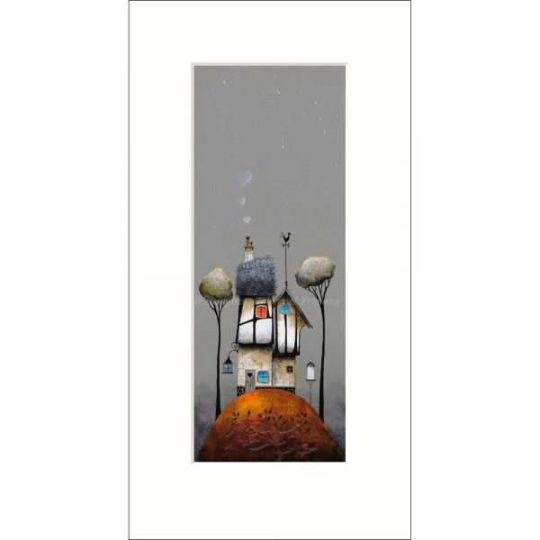 Mounted limited edition print 'Home is Where the Heart is' by Gary Walton