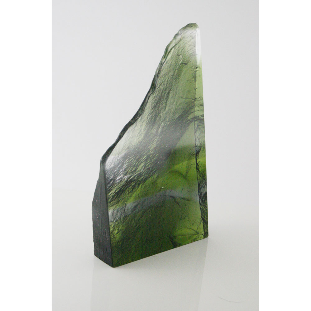 cast glass sculpture of rock formation