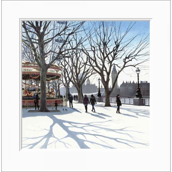 Mounted Limited edition print 'Carousel' by Jo Quigley