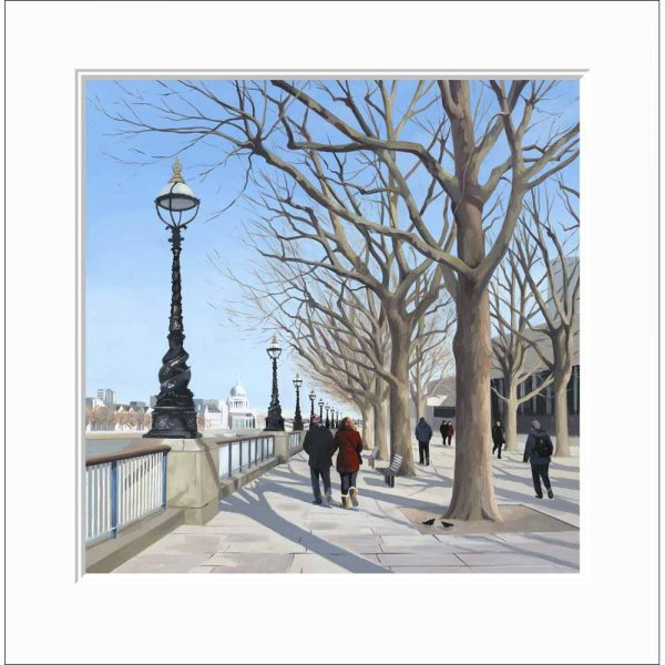 Mounted Limited edition print 'Embankment' by Jo Quigley