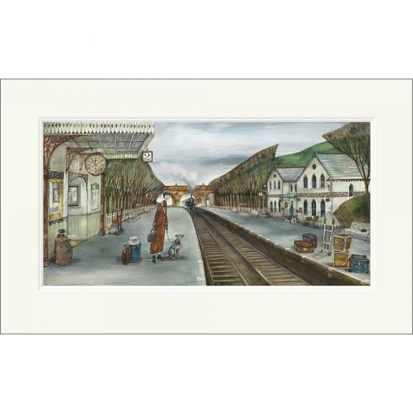 Mounted limited edition print 'Rosehill Station' by Joe Ramm