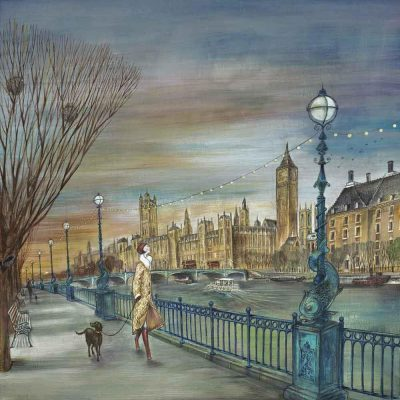 Limited edition print 'Sunset Stroll' by Joe Ramm