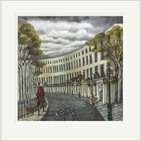 Mounted limited edition print 'The Royal Crescent' by Joe Ramm