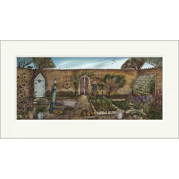 Mounted limited edition print 'Walled Garden' by Joe Ramm