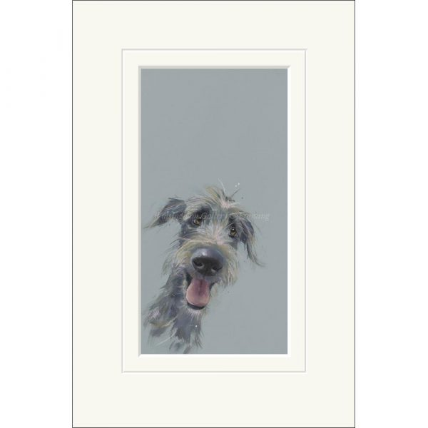 Mounted limited edition print 'Scruffy Mutt' by Nicky Litchfield
