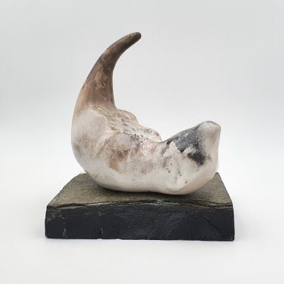 Ceramic sculpture 'Otter I' by Carol Pask