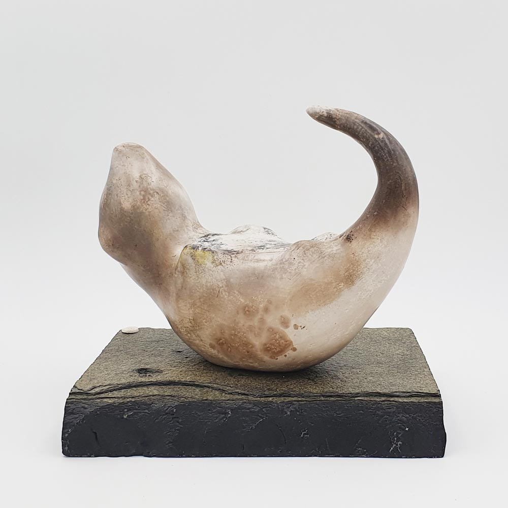 Ceramic sculpture 'Otter II' by Carol Pask