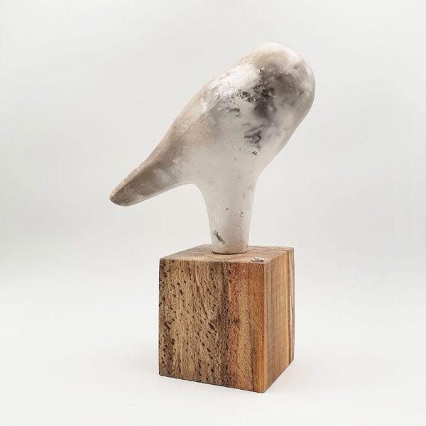 Ceramic sculpture 'Owl I' by Carol Pask
