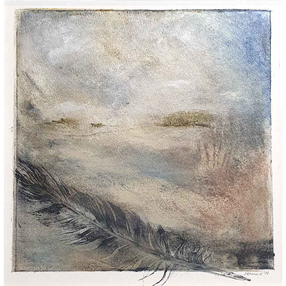 original collagraph & mixed media by Nigel Skinner