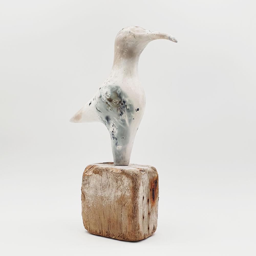 Ceramic sculpture 'Wader' by Carol Pask