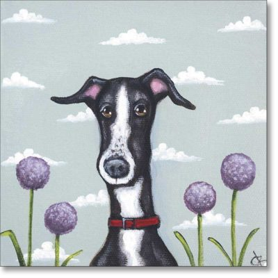 Greetings card of 'Amongst the Alliums' by Claire Brierley