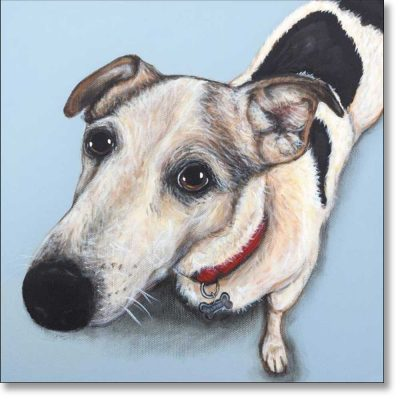 Greetings card of 'Here's Looking at You' by Claire Brierley