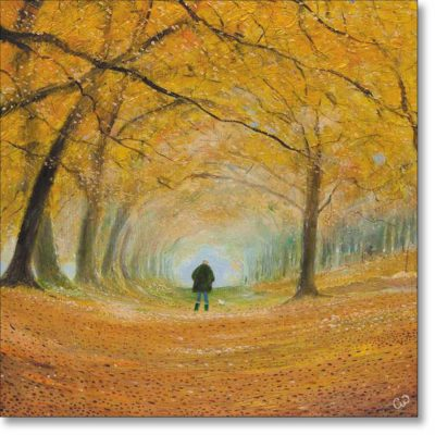 Greeting card of 'Autumn Walk' by Chris Williamson