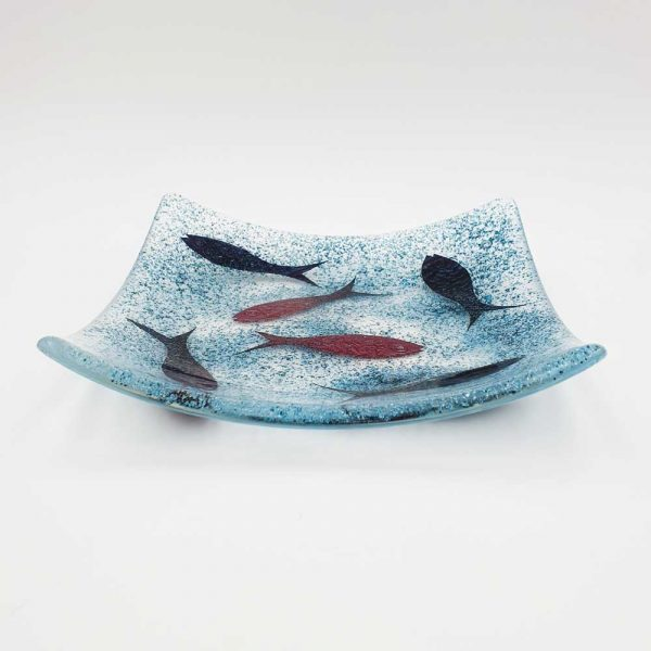 Fused glass fish dish by Fiona Fawcett