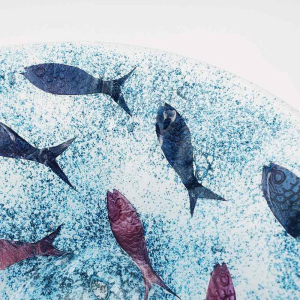 Detail of glass fish bowl by Fiona Fawcett