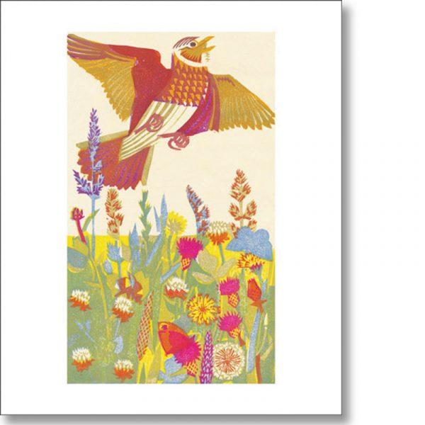 Greetings card of 'Lark Ascending' by Matt Underwood
