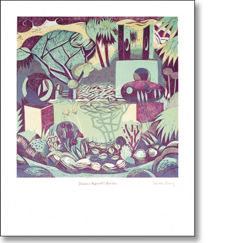 Greetings card of 'Barbara Hepworth's Garden' by Sarah Young