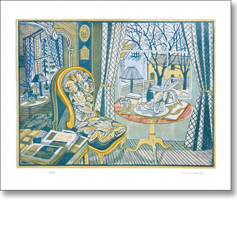 Greetings card of 'Tea' by Richard Bawden