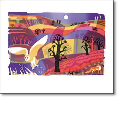 Greetings card of 'Bright Night' by Carry Ackroyd