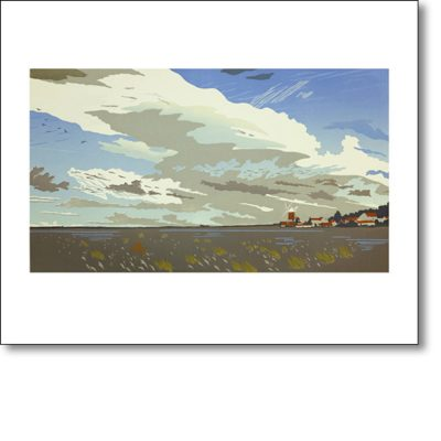 Greetings card of 'Cley Marshes' by Colin Moore