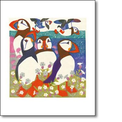 Greetings card of 'Puffins' by Matt Underwood