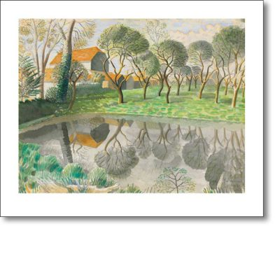 Greetings card of 'Newt Pond, 1932' by Eric Ravillious