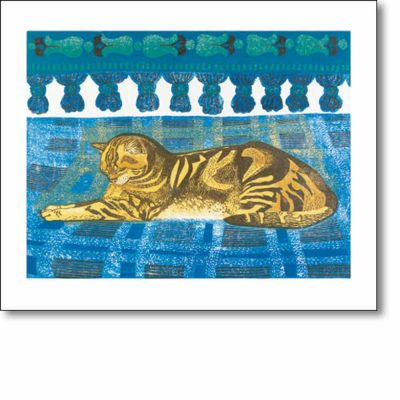 Greetings card of 'Tom Cat' by Sheila Robinson