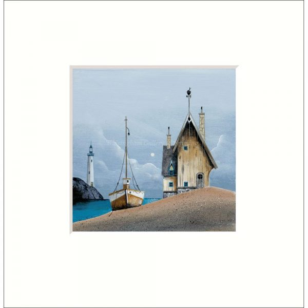 Mounted limited edition print 'On the Beach' by Gary Walton