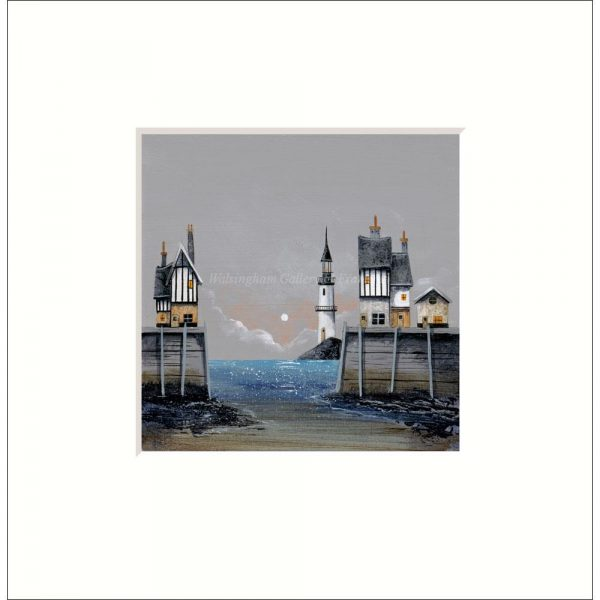 Mounted limited edition print 'Glittering Sea' by Gary Walton