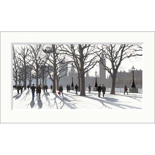 Mounted limited edition print 'A View of Parliament' by Jo Quigley