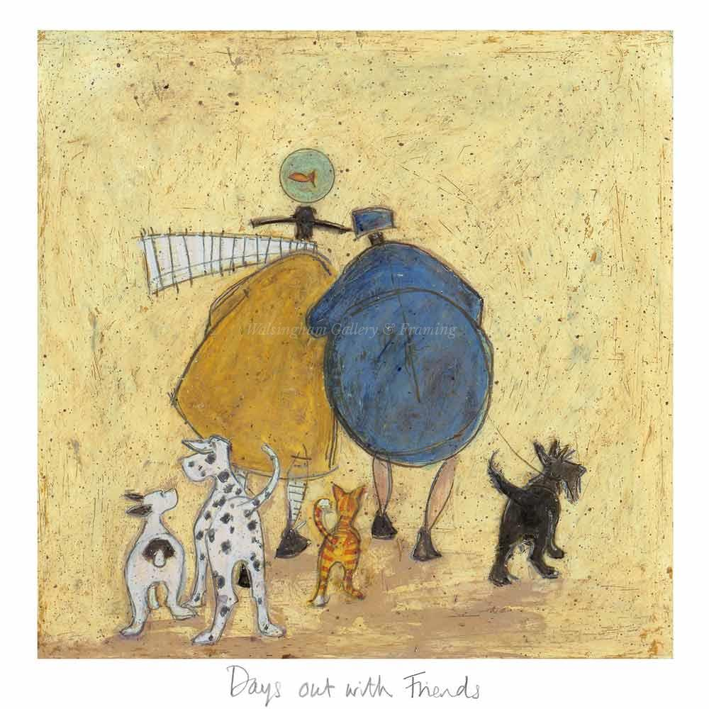 Limited edition print 'Days out with Friends' by Sam Toft