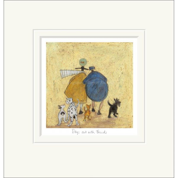 Mounted limited edition print 'Days out with Friends' by Sam Toft