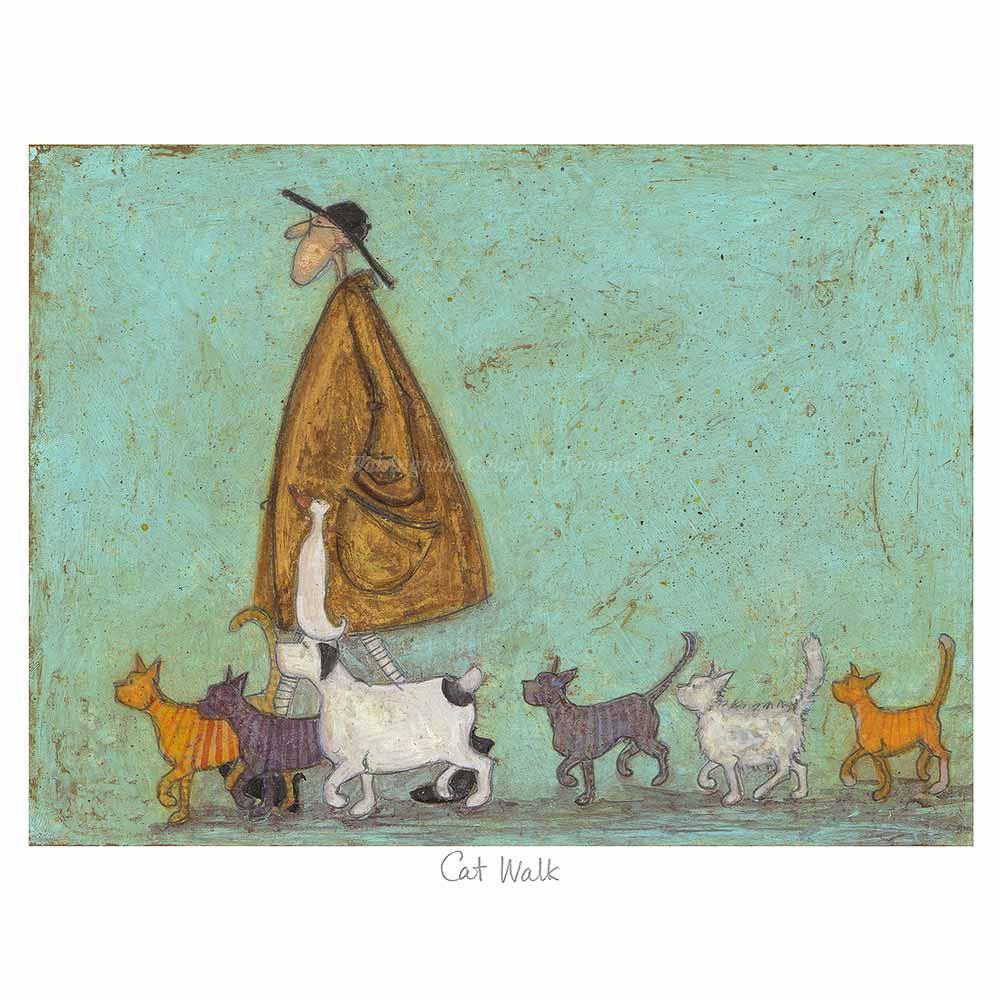 Limited edition print 'Cat Walk' by Sam Toft