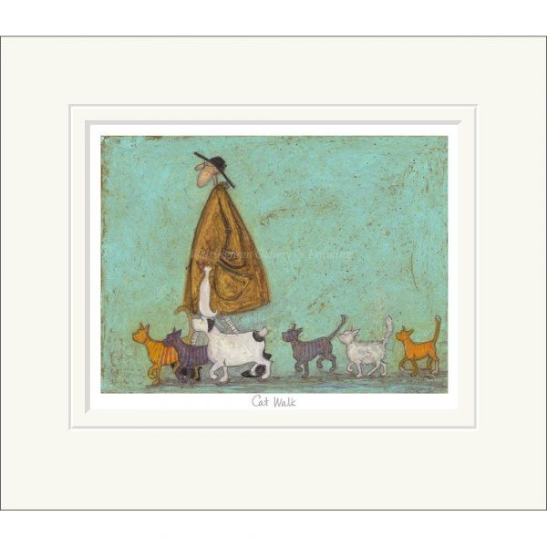 Mounted limited edition print 'Cat Walk' by Sam Toft