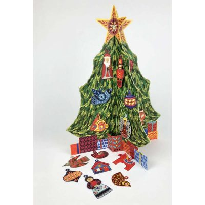 Freestanding Advent Calendar of 'Advent Christmas Tree' by Alice Melvin