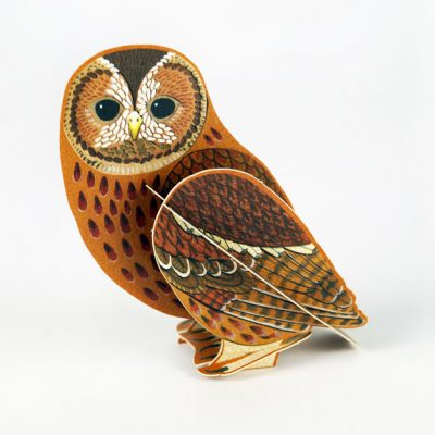 Pop-out card of 'Tawny Owl' by Alice Melvin