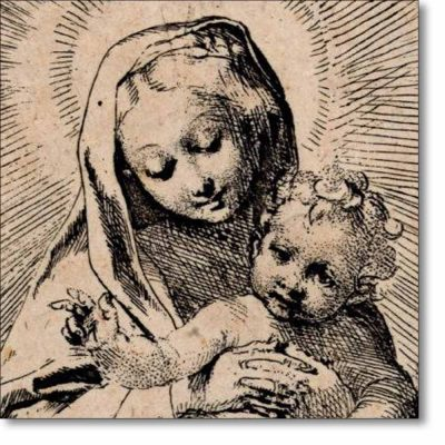 Christmas Card of 'Virgin and Child' by Barocci