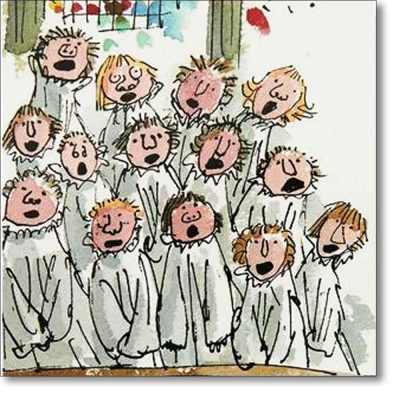 Christmas Card of 'King's Choir' by Quentin Blake