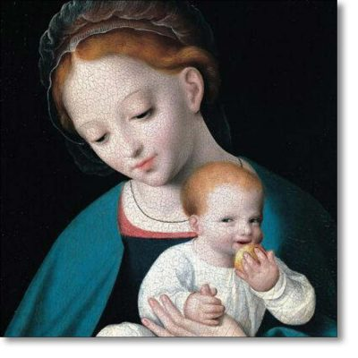 Christmas Card of 'Virgin and Child with an Orange'