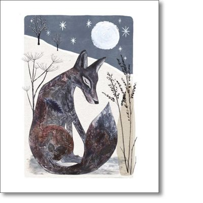 Greeting card of 'Midnight Fox' by Gordy Wright