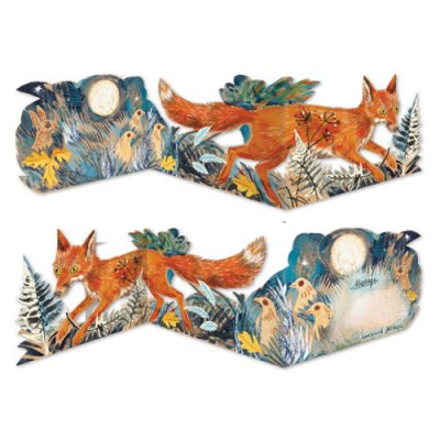 Die-Cut Tri-Fold card of 'Fox' by Mark Hearld