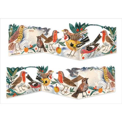 Die-Cut Tri-Fold card of 'Winter Feast' by Mark Hearld