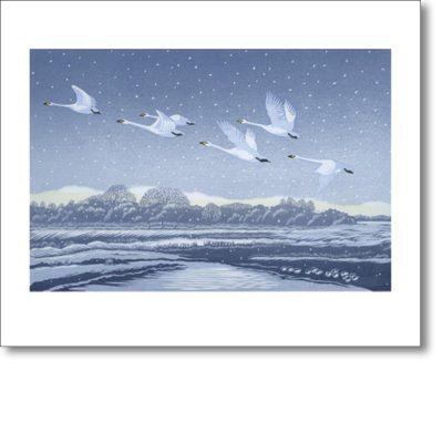 Greeting card of 'Snow Flight' by Niki Bowers