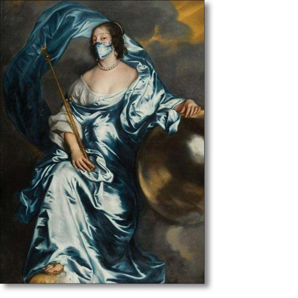 Christmas Card of 'Countess Rachel du Ruvigny as Fortune' by Anthony van Dyck