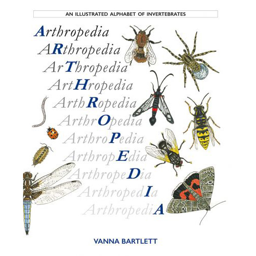 An illustrated alphabet of invertebrates book, 'Arthropedia' by Vanna Bartlett