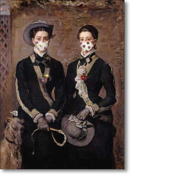 Christmas Card of 'The Twins, Kate and Grace Hoare' by John Everett Millais
